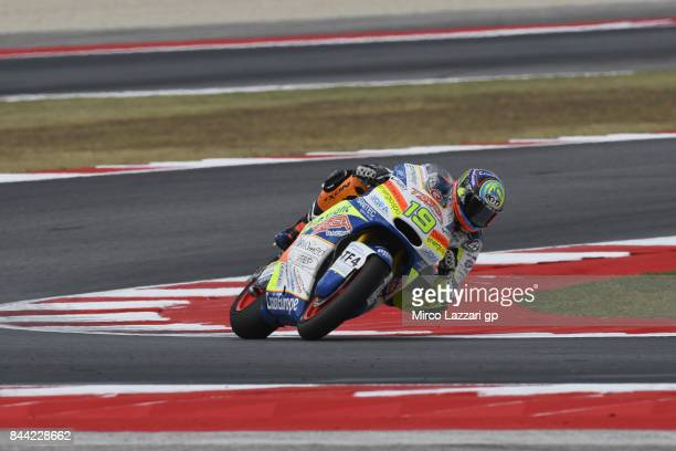 Xavier Simeon of Belgium and Tasca Racing Scuderia Moto2 rounds the bend during the MotoGP of San Marino Free Practice at Misano World Circuit on...