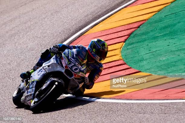 Xavier Simeon of Belgium Reale Avintia Racing Ducati during free practice for the Gran Premio Movistar de Aragon of world championship of MotoGP at...