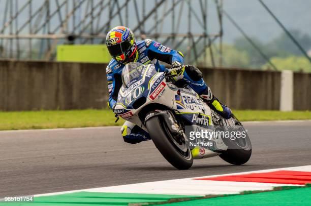 Xavier Simeon of Reale Avintia Racing during the 2018 MotoGP Italian Grand Prix Free Practice at Circuito del Mugello Florence Italy on 1 June 2018