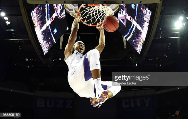 Xavier Sneed of the Kansas State Wildcats dunks on the UMBC Retrievers during the second round of the 2018 NCAA Men's Basketball Tournament at...