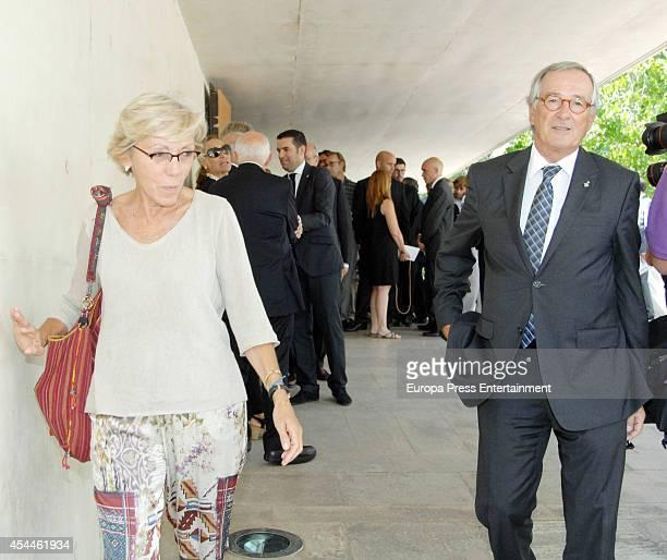 Xavier Trias attends the funeral for the Spanish designer Manuel Pertegaz on August 31 2014 in Barcelona Spain