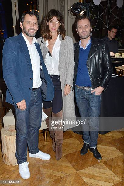 Xavier Veilhan Doria Tillier and Augustin Trapenard'n attend 'Le Bal Jaune 2015' Dinner Party At Hotel Salomon de Rothschild during FIAC on October...