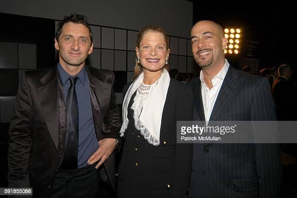 Xavier Veilhan Robin Bell and John Yunis attend Chanel Elements Celestes Fine Jewelry designed by Artist Xavier Veilhan at Chanel Store on October 24...