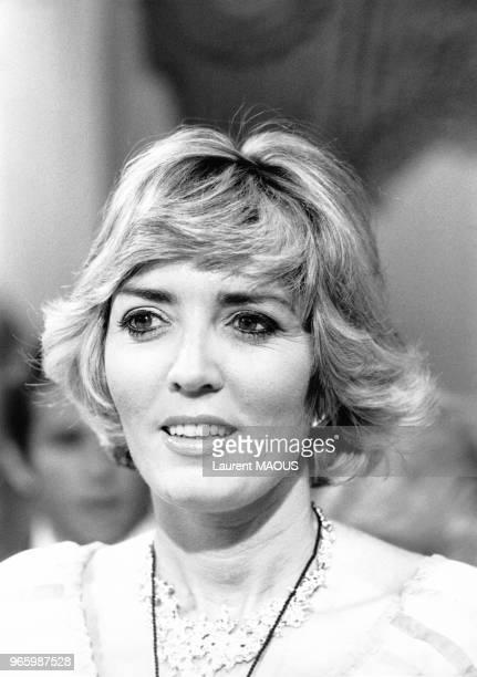 Xaviera Hollander sur le plateau de l'émission télévisée 'Apostrophes' le 17 juin 1977 à Paris France