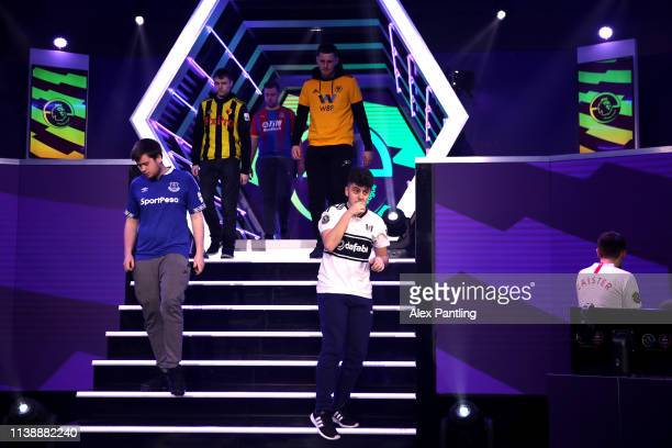 Xbox Players take their seats during day one of the 2019 ePremier League Finals at Gfinity Arena on March 28 2019 in London England