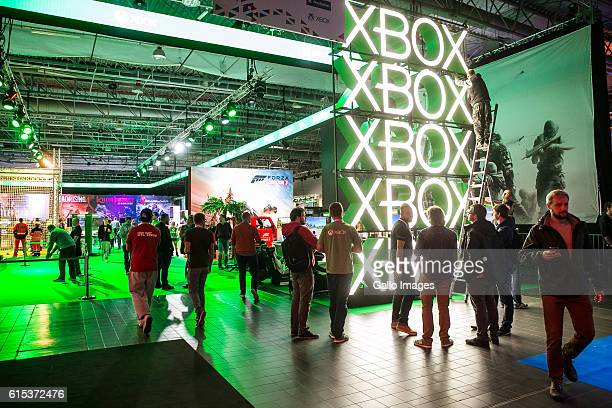 Xbox zone during the TMobile Warsaw Games Week on October 13 2016 at EXPO XXI Exhibition Hall in Warsaw Poland WGW is a gaming event where the main...