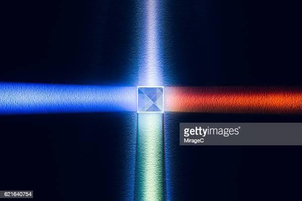 X-Cube Prism Refracting RGB Spectrum