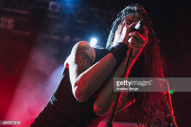 Xen of Ne Obliviscaris performs on stage at KOKO on October 23 2015 in London England