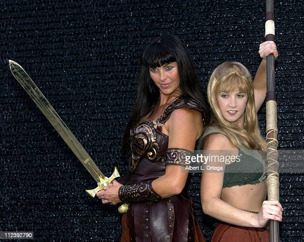 Xena and Gabrielle celebrate the release of the Season One DVD from DavidPanzerAnderson Merchandise and Anchor Bay Entertainment