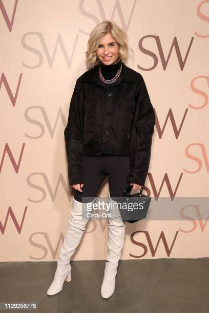 Xenia Adonts attends Stuart Weitzman Spring Celebration 2019 on February 12 2019 in New York City