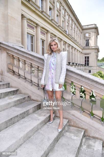 Xenia Adonts attends the Balmain Menswear Spring/Summer 2019 show as part of Paris Fashion Week on June 24 2018 in Paris France