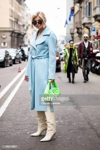 Xenia Adonts attends the Ermanno Scervino show at Milan Fashion Week Autumn/Winter 2019/20 on February 23 2019 in Milan Italy