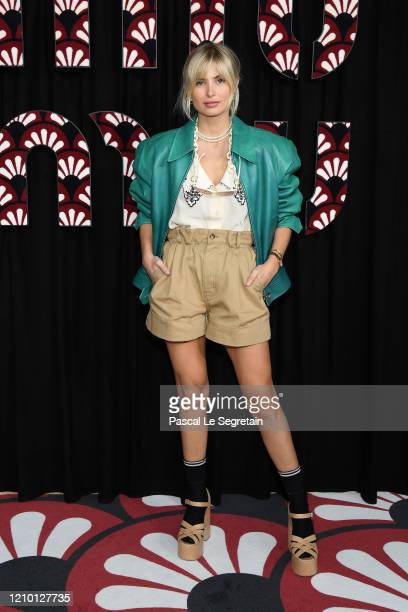 Xenia Adonts attends the Miu Miu show as part of the Paris Fashion Week Womenswear Fall/Winter 2020/2021 on March 03, 2020 in Paris, France.