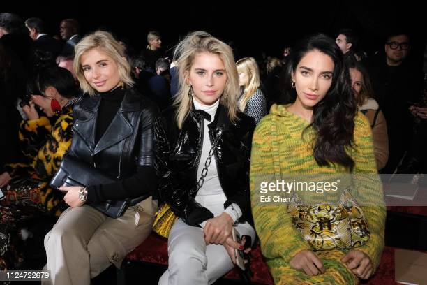 Xenia Adonts Caroline Daur and Jessica Kahawaty attend the MICHAEL KORS COLLECTION Fall 2019 Runway Show at Cipriani Wall Street on February 13 2019...