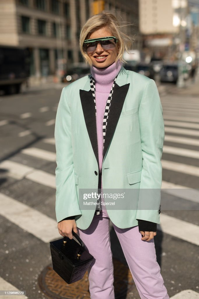 Street Style - New York Fashion Week February 2019 - Day 7 : Photo d'actualité