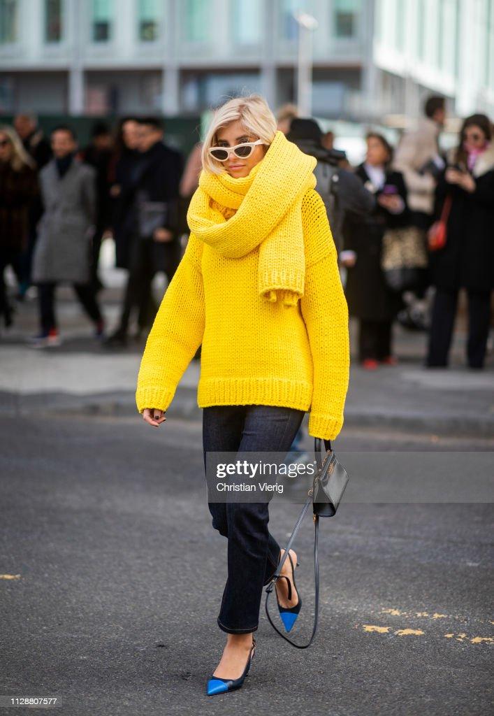 Street Style - New York Fashion Week February 2019 - Day 4 : News Photo
