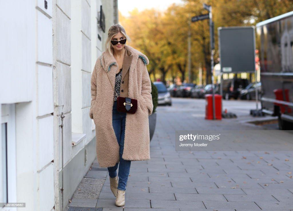 Street Style - Hamburg - October 08, 2018 : Fotografía de noticias