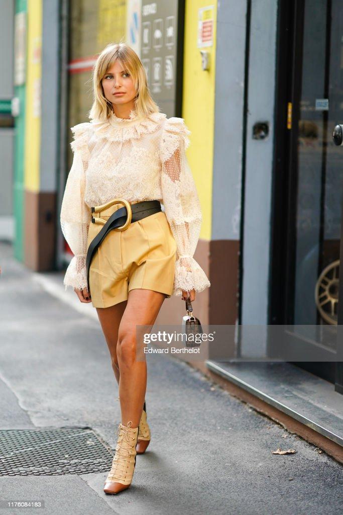 Street Style: September 20 - Milan Fashion Week Spring/Summer 2020 : News Photo