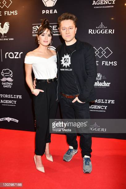 Xenia Assenza and Adrian Topol attend the Plot Point Party during the 70th Berlinale International Film Festival Berlin at Stilwerk on February 23,...