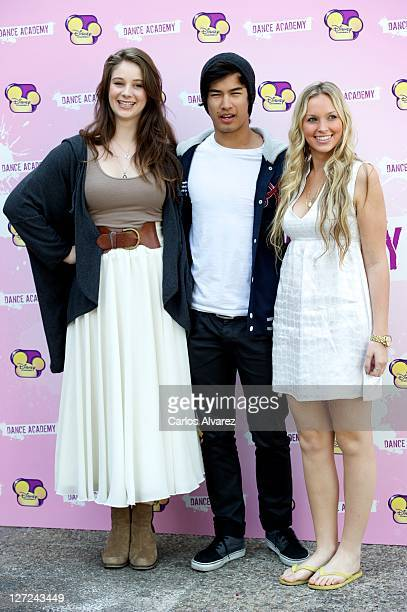Xenia Goodwin Jordan Rodrigues and Alicia Banit attend 'Dance Academy' photocall on September 27 2011 in Madrid Spain