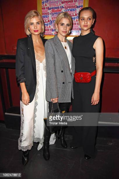 Xenia Overdose Caro Daur and Lisa Vicari attend the Stella McCartney X UZWEI Spring/Summer 2019 Collection Launch Party at Gruenspan Club on October...