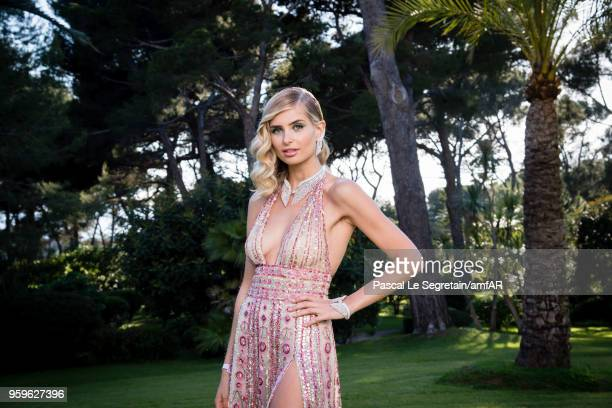 Xenia Overdose poses for portraits at the amfAR Gala Cannes 2018 cocktail at Hotel du CapEdenRoc on May 17 2018 in Cap d'Antibes France