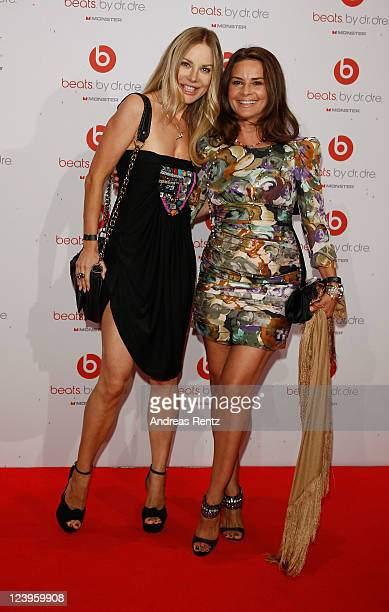 Xenia Seeberg and Gitta Saxx arrive for the 'IBIZA TO BERLIN' party at Spindler Klatt on September 6 2011 in Berlin Germany