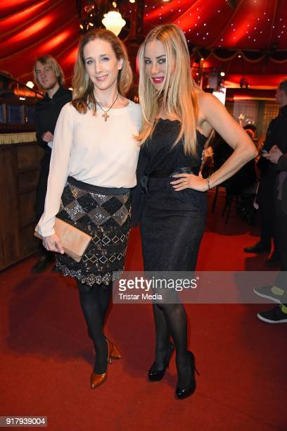 Xenia Seeberg and Kristin Meyer attend the Askania Award at Palazzo am Bahnhof Zoologischer Garten on February 13 2018 in Berlin Germany