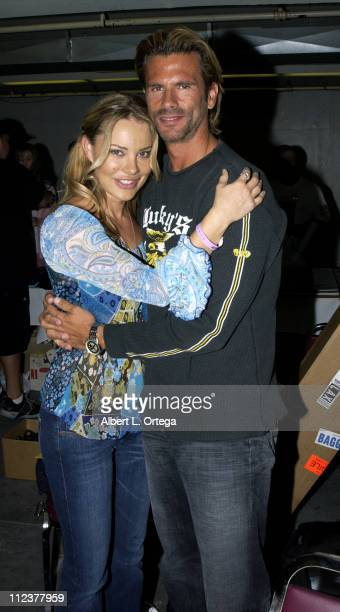 Xenia Seeberg and Lorenzo Lamas during Creation Entertainment's Grand Slam XI The SciFi Summit Day One at Pasadena Civic Auditorium in Pasadena...