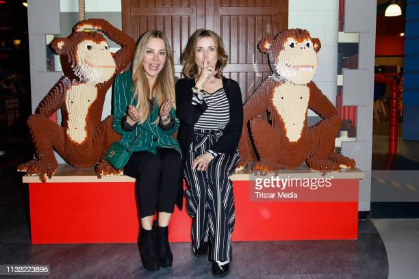 Xenia Seeberg and Tina Ruland attend the premiere of the film LEGO City Cops In Action at LEGOLAND Discovery Center Berlin on March 27 2019 in Berlin...