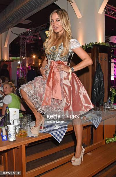 Xenia Seeberg during the Angermaier TrachtenNacht at Hofbraeuhaus on August 30 2018 in Berlin Germany