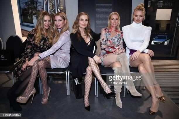 Xenia Seeberg Sabine Piller Regina Halmich Tamara Graefin von Nayhauss and Franziska Knuppe attend the Lana Mueller fashion show during Berlin...