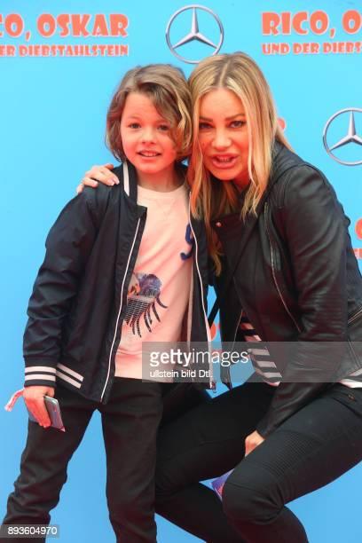 Xenia Seeberg und Sohn PhilipElias 'Rico Oscar und der Diebstahlstein' im Kino ZooPalast in Berlin Datum