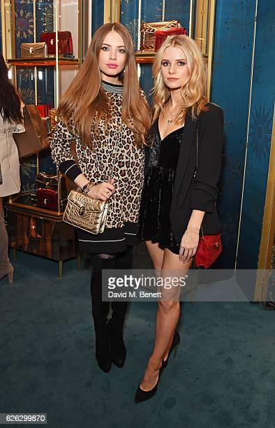 Xenia Tchoumi and Lottie Moss attend as Bulgari celebrates the opening of the Selfridges Pop Up ''Wishes Full Of Colour' on November 28 2016 in...