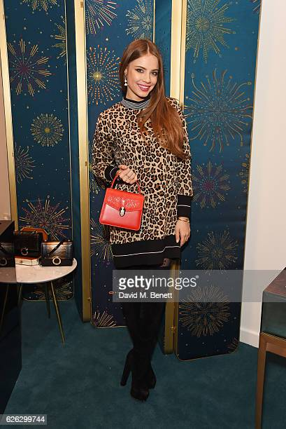 Xenia Tchoumi attends as Bulgari celebrates the opening of the Selfridges Pop Up ''Wishes Full Of Colour' on November 28 2016 in London England