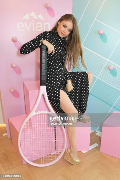 Xenia Tchoumi attends the evian Live Young suite at The Championships Wimbledon 2019 on July 11 2019 in London England