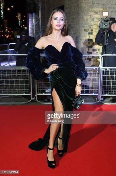 Xenia Tchoumi attends the Naked Heart Foundation's Fabulous Fund Fair during London Fashion Week February 2018 at the Roundhouse on February 20 2018...