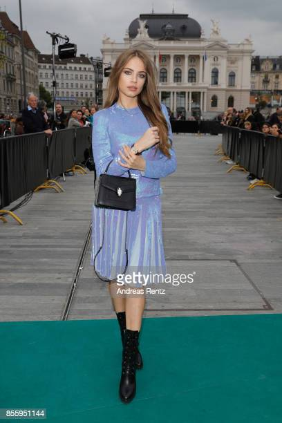 Xenia Tchoumi attends the 'Shock and Awe' premiere at the 13th Zurich Film Festival on September 30 2017 in Zurich Switzerland The Zurich Film...