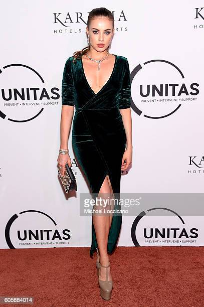 Xenia Tchoumi attends the UNITAS 2nd annual gala against human trafficking at Capitale on September 13 2016 in New York City