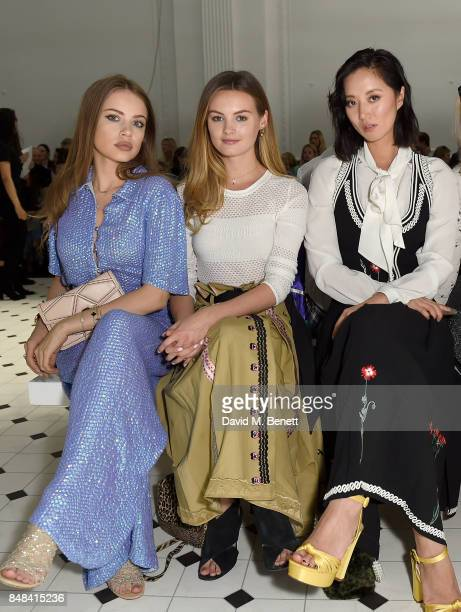 Xenia Tchoumi Niomi Smart and Betty Bachz attend Temperley London Fashion Show SS 18 during London Fashion Week at The Lindley Hall on September 17...