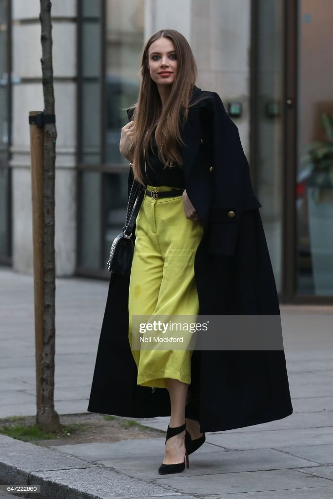 Xenia Tchoumi seen arriving at the BBC studios on March 2, 2017 in London, England.