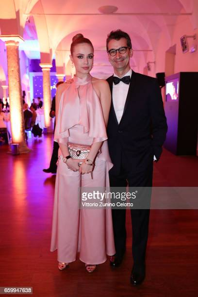 Xenia Tchoumitcheva and Federico Marchetti attend Elisa Sednaoui Foundation and Yoox Net a Porter Event on March 28 2017 in Milan Italy