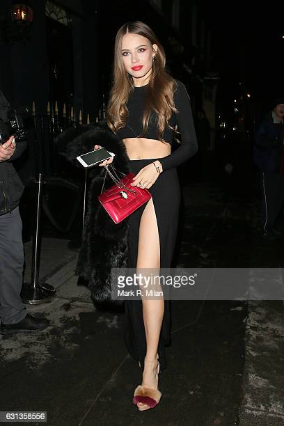 Xenia Tchoumitcheva attending the London Fashion Week Men's GQ dinner at MNKY HSE on January 9 2017 in London England