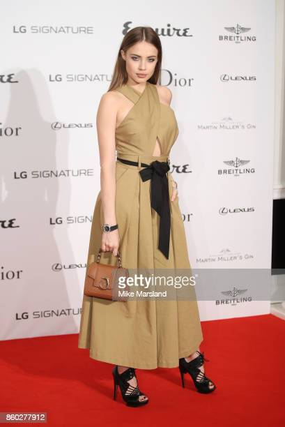 Xenia Tchoumitcheva attends the Esquire Townhouse with Dior party at No 11 Carlton House Terrace on October 11 2017 in London England