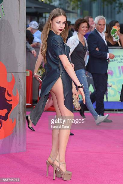 Xenia Tchoumitcheva attends the European Premiere of 'Suicide Squad' at Odeon Leicester Square on August 3 2016 in London England