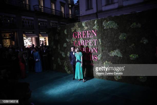 Xenia Tchoumitcheva attends the Green Carpet Fashion Awards at Teatro Alla Scala on September 23 2018 in Milan Italy