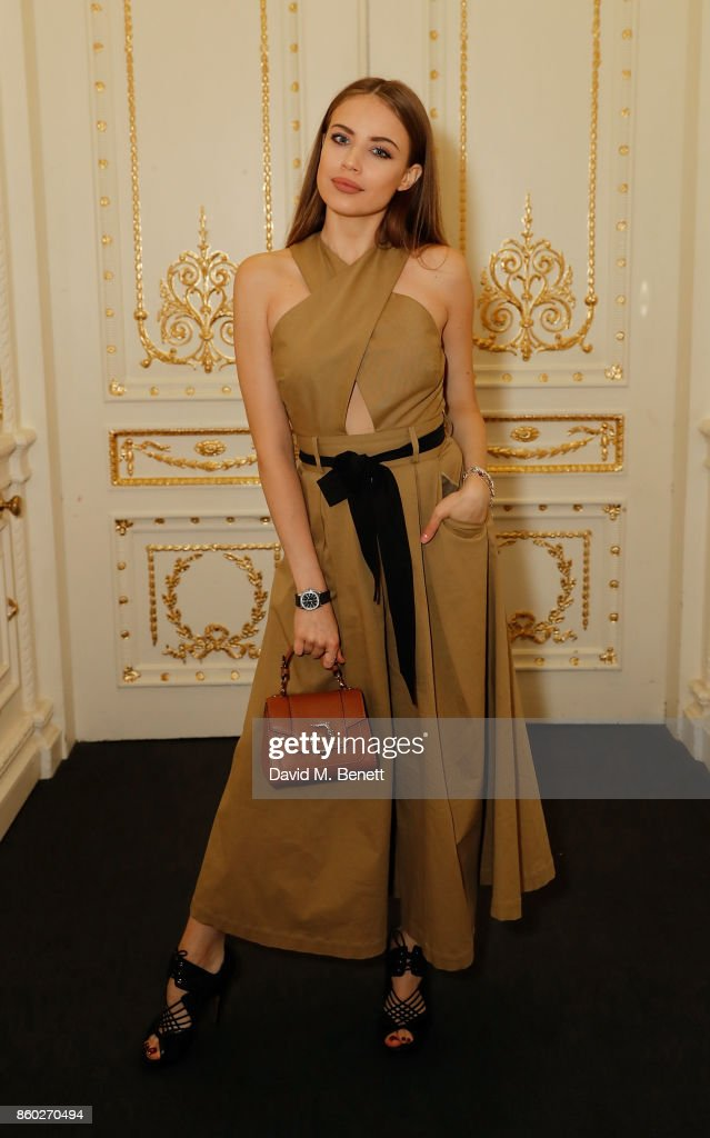 Xenia Tchoumitcheva attends the launch of the Esquire Townhouse with Dior at No 11 Carlton House Terrace on October 11, 2017 in London, England.
