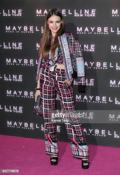 Xenia Tchoumitcheva attends the Maybelline Bring on the Night party at The Scotch of St James on February 18 2017 in London United Kingdom