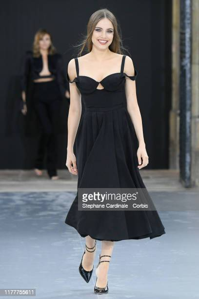 Xenia Tchoumitcheva walks the runway during the Le Defile L'Oreal Paris Show as part of Paris Fashion Week on September 28 2019 in Paris France