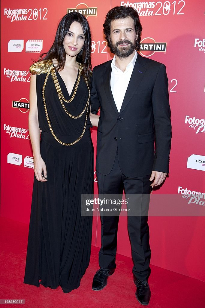 Xenia Tostado (L) and Rodolfo Sancho (R) attend Fotogramas awards 2013 at the Joy Eslava Club on March 11, 2013 in Madrid, Spain.